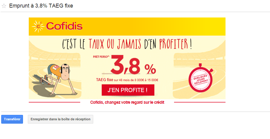 Exemple de campagnes Adwords : GSP
