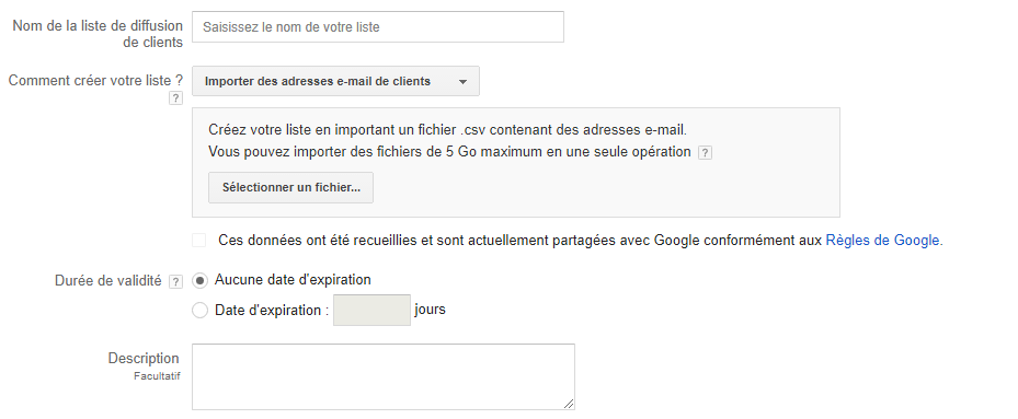 Google Adwords Customer Match