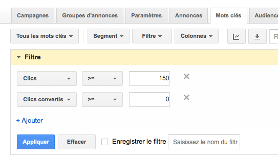 optimiser taux de conversion google adwords
