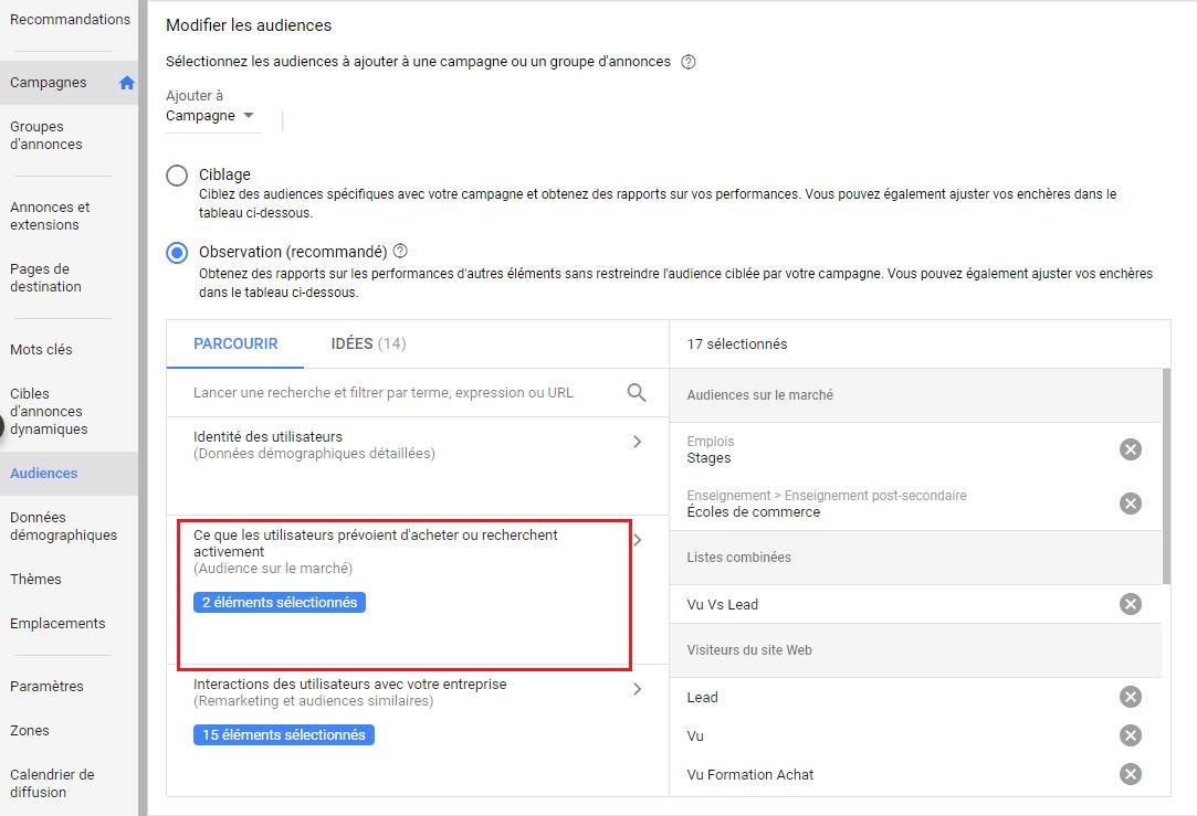 Audiences Google Ads